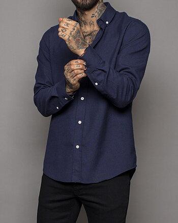 Darren Marinblå Skjorta
