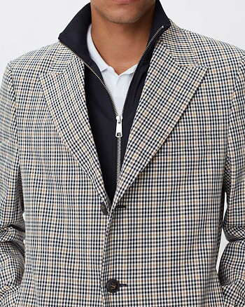 Melvin Check Trench Coat