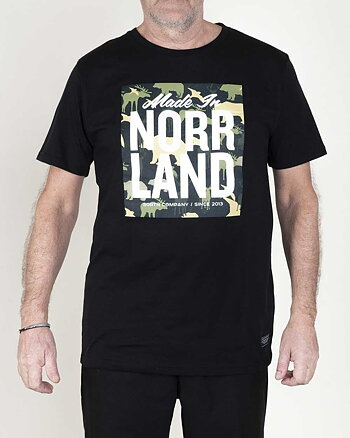 Made In Norrland Animal Camo Svart T-shirt