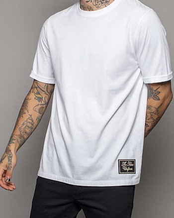 Black Label Vit T-Shirt