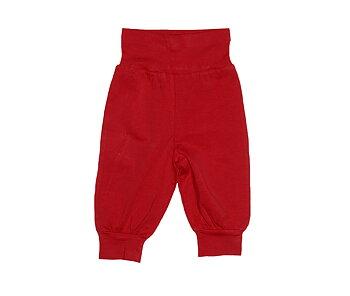 Single Colour Cotton Baby Pants: Red