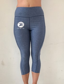 Spartan 7/8 Leggings BASIC/Blue Melange
