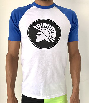 Mens raglan t-shirt/Blue