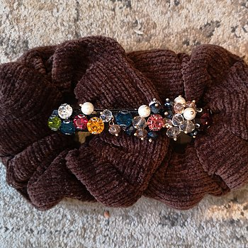 CORDY SCRUNCHY 2 PCS BROWN