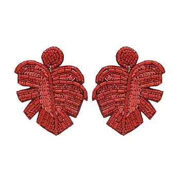 Leafer Earring Corall Red
