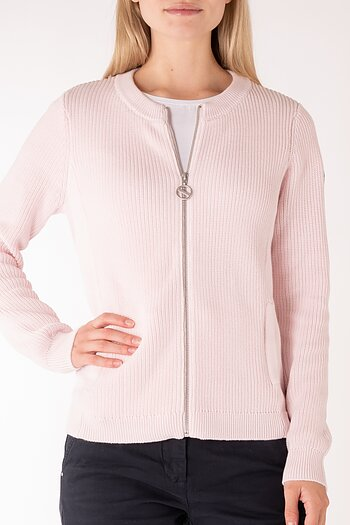 Knit Zip Short Cardigan - Sebago