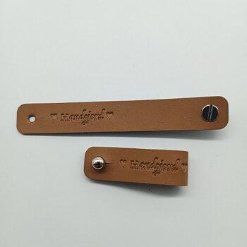 Lädermärke Handgjord - 15mm