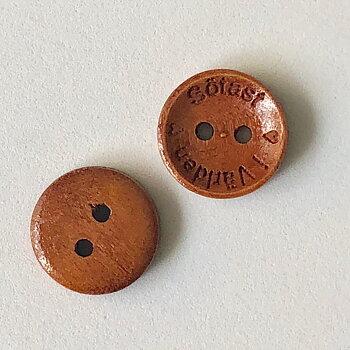 Knapp Sötast i Världen - Cognac Trä 15mm