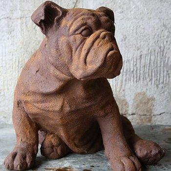 Hund 7*28*30H Rostfärgad
