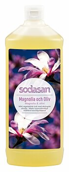 Magnolia & Oliv ekologisk Tvål/Duschtvål 1L Refill - SODASAN
