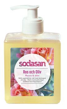 Ros & Oliv ekologisk Tvål/Duschtvål 300 ml - SODASAN