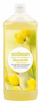 Citrus & Oliv ekologisk Tvål/Duschtvål 1 L Refill - SODASAN