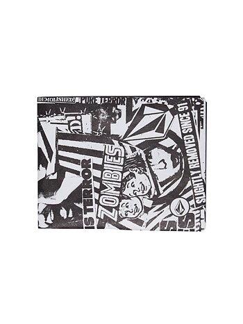Volcom - Spinner Paper Plånbok White/Black
