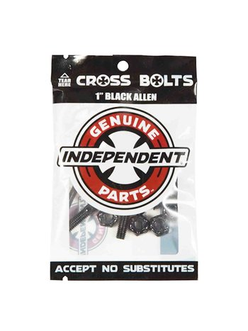 "Independent Cross Bolts 1"" Black Allen"