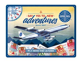 Nostalgi-Art Plåtskylt 30x40cm  Pan Am Flyg
