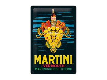 Nostalgi-Art Plåtskylt 20x30cm     Martini  Mörk