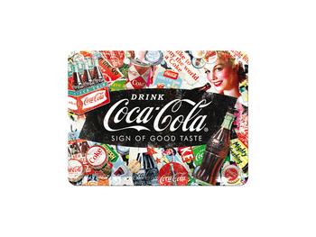 Nostalgi-Art Plåtskylt 20x15cm      Coca Cola Färg Bak