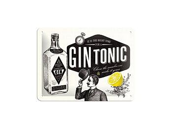 Nostalgi-Art Plåtskylt 20x15cm      Gin Tonic