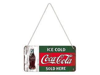Nostalgi-Art Plåtskylt 10x20cm       Coca Cola Ice Cold