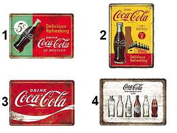 Nostalgi-Art Plåt Vykort                     Coca Cola