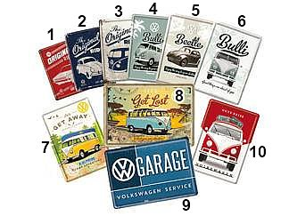 Nostalgi-Art Plåt Vykort                     VW