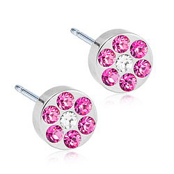 Blomdahl Natur Titanium NT BRILLIANCE PLENARY 5 MM, ROSE/CRYSTAL
