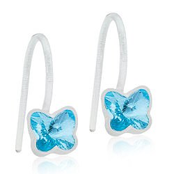 Blomdahl Medical Plastic MP PENDANT FIXED BUTTERFLY 5 MM, AQUAMARINE