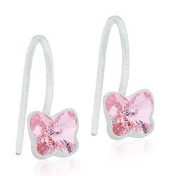 Blomdahl Medical Plastic MP PENDANT FIXED BUTTERFLY 5 MM, LIGHT ROSE