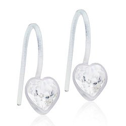 Blomdahl Medical Plastic MP PENDANT FIXED HEART 6 MM, CRYSTAL