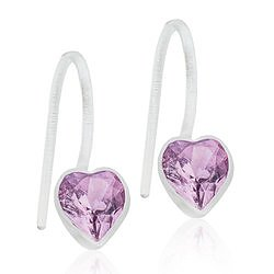 Blomdahl Medical Plastic MP PENDANT FIXED HEART 6 MM, LIGHT AMETHYST