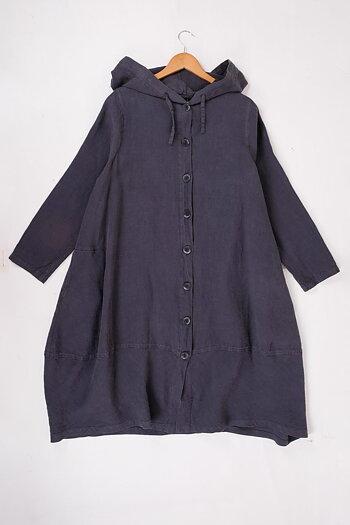 Grey - Bitta - linen coat