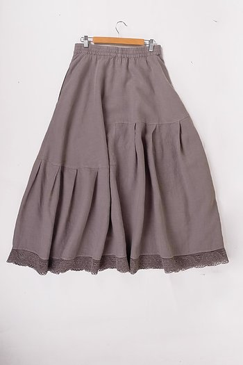 Brown dune -  linen skirt Hillara