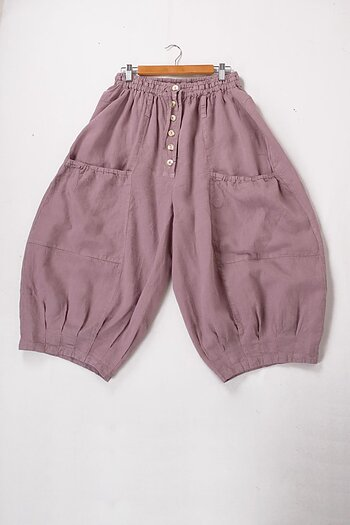 Pink dusty - Norell - linen trousers