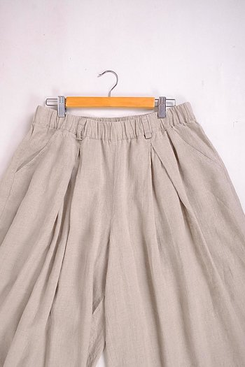 Natural linen trousers - Tagunda