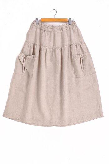 Natur linen skirt - Elja