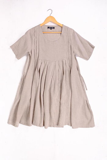 Natural - linen dress -  Astana