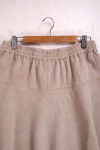 Natur linen skirt - Odelia