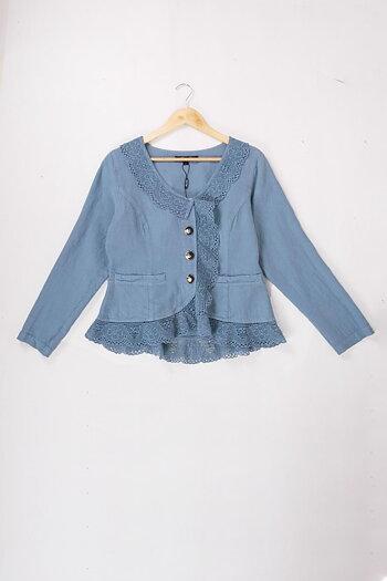 Blue - Rulandra - linen jacket