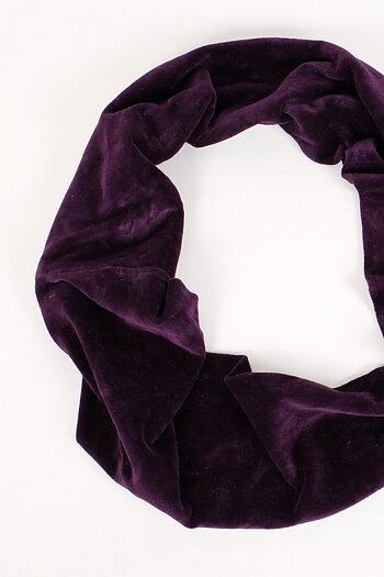 Velvet scarf - infinity