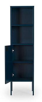 UNO Högskåp smal, Höjd 152 cm, Bredd 40 cm.  1 dörr, Blå. LAGERVARA