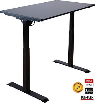 Höj-sänkbart bordsstativ Inkl bordsskiva 120x60 och appstyrning. 3 färger