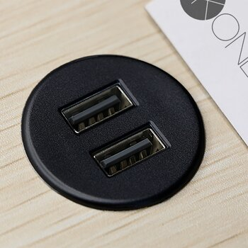 Powerdot MICRO - USB Laddare 2 portar 5V 2A, Svart