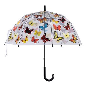 Paraply Fjäril Transparant