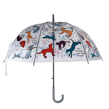 Paraply Katter & Hundar Transparant