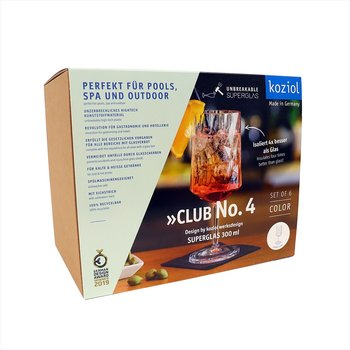CLUB NO. 4 Vinglas 6-pack 350ml, crystal clear