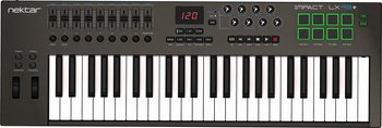 Nektar Impact LX49+ - 49-tangenters USB-klaviatur med reglar, rattar & pads