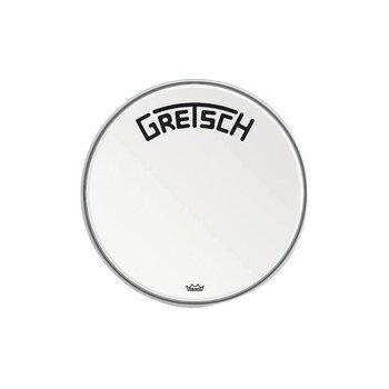 "Gretsch Bassdrum head Ambassador white coated 18"""