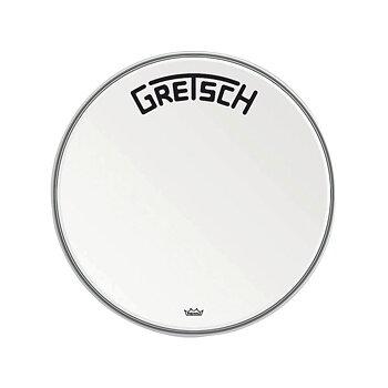 "Gretsch Bassdrum head Ambassador white coated 22"""