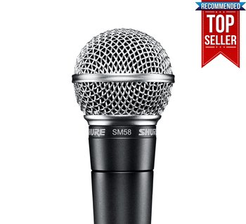 Shure SM58-LCE Microphone Dynamic Cardioid,  Vocal