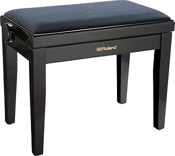 Roland RPB-220PE PIANO BENCH, POLISHED EBONY, VELOURS SEAT